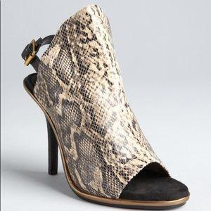 Kelsi Dagger Cameo snakeskin heels